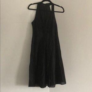 Theory black cotton dress